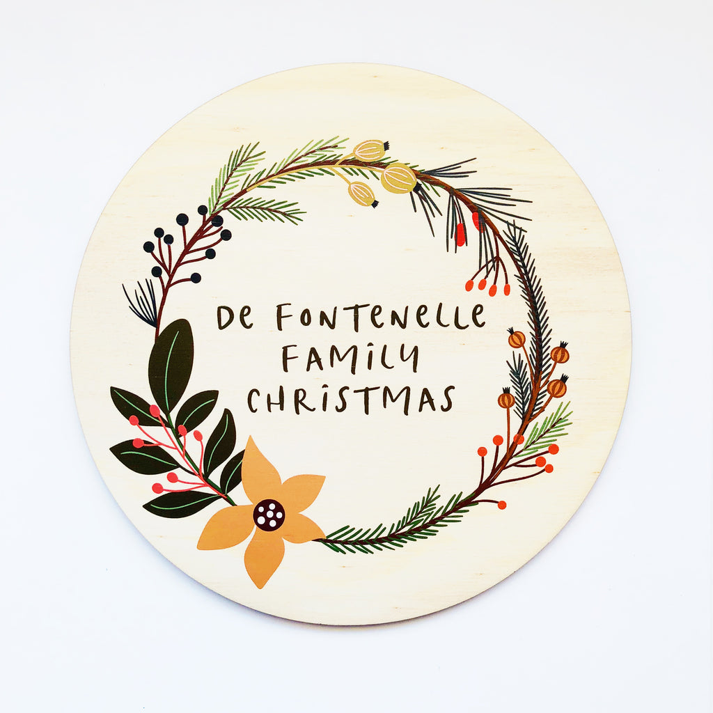 Christmas Wreath Plaques (custom)