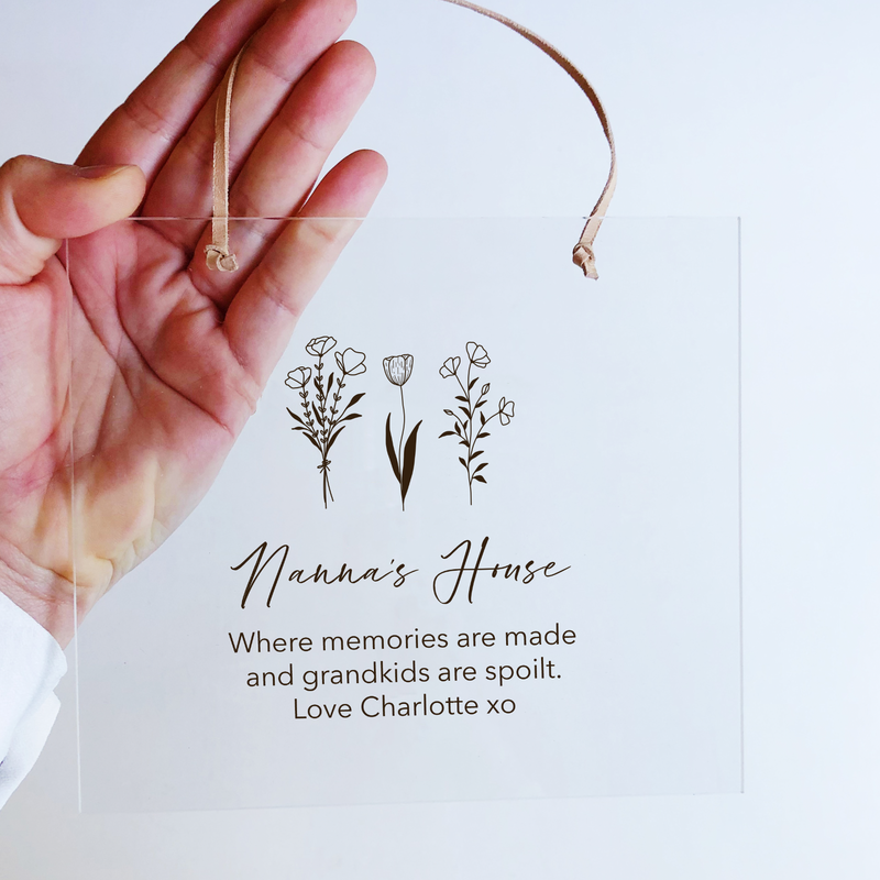 Mother's Day Acrylic Plaques - Garden Flowers (custom)