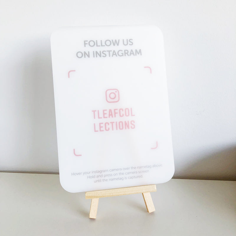 Follow Us on Instagram Signage