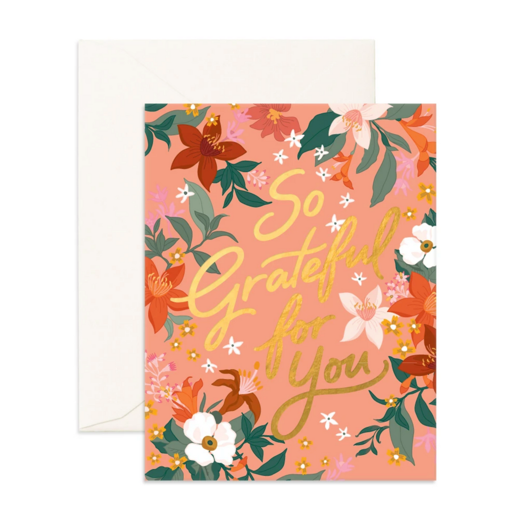 So Grateful Bohemia Greeting Card