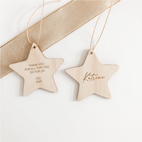 Christmas Star Decorations - Double Sided