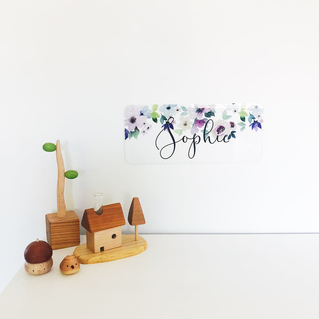 Rectangle Name Plaques - Multiple Designs (custom)