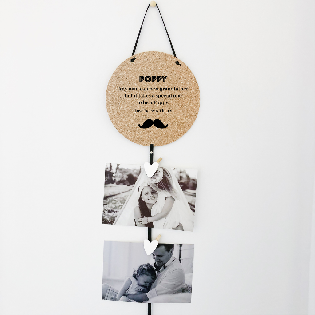 Cork Memory Drops for Dad - Moustache