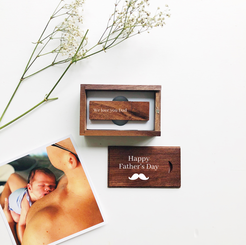 Father's Day USB - Walnut Wood