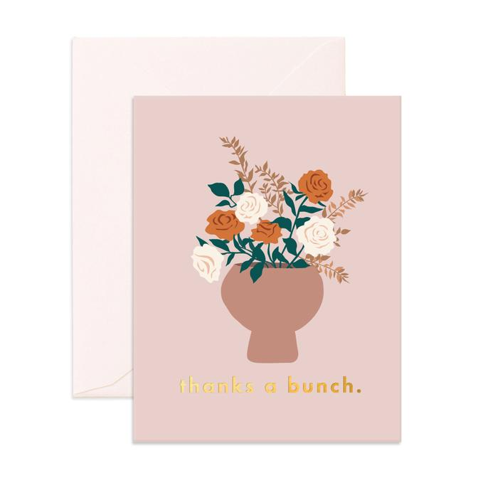 Thanks A Bunch Still Life Greeting Card