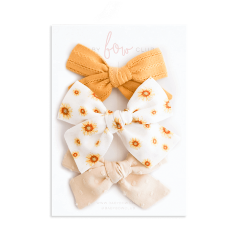 Sunflowers // Bow Set