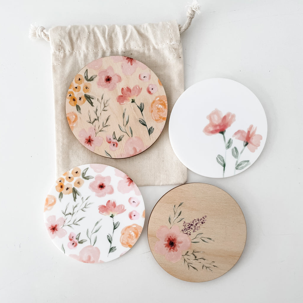 Fridge Magnets - Watercolour Florals (ready-made)
