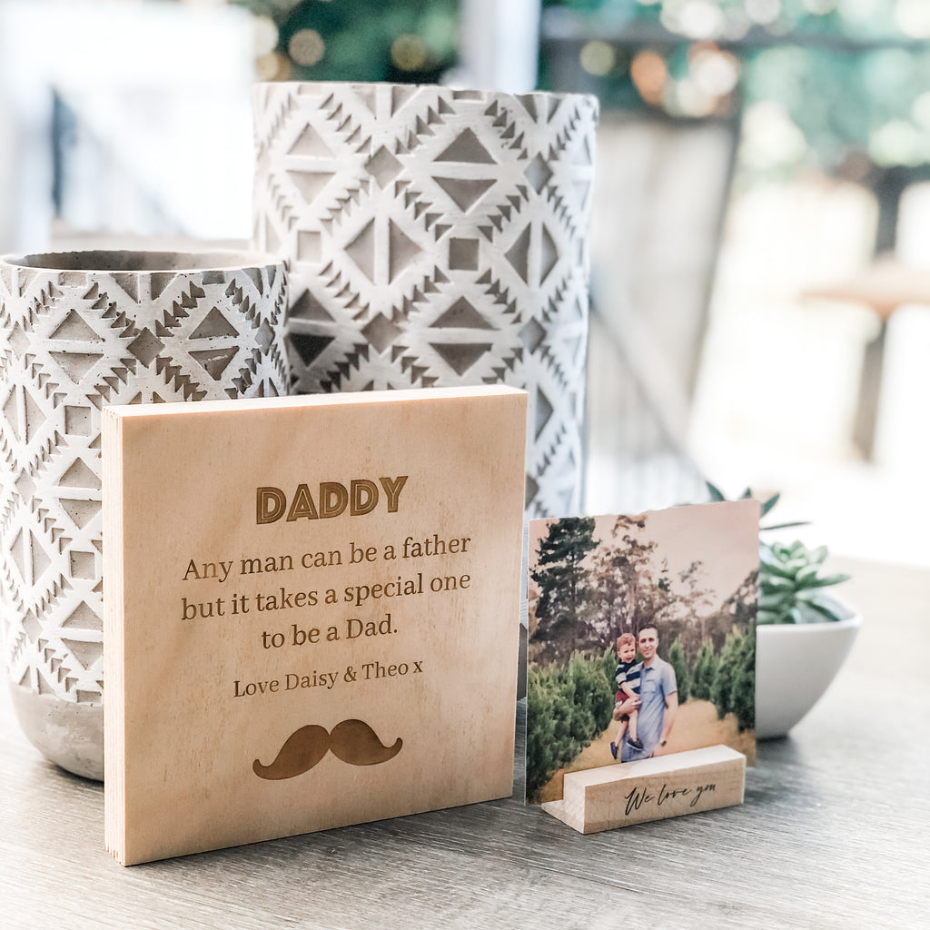 Father's Day Standing Wooden Plaques 15cm