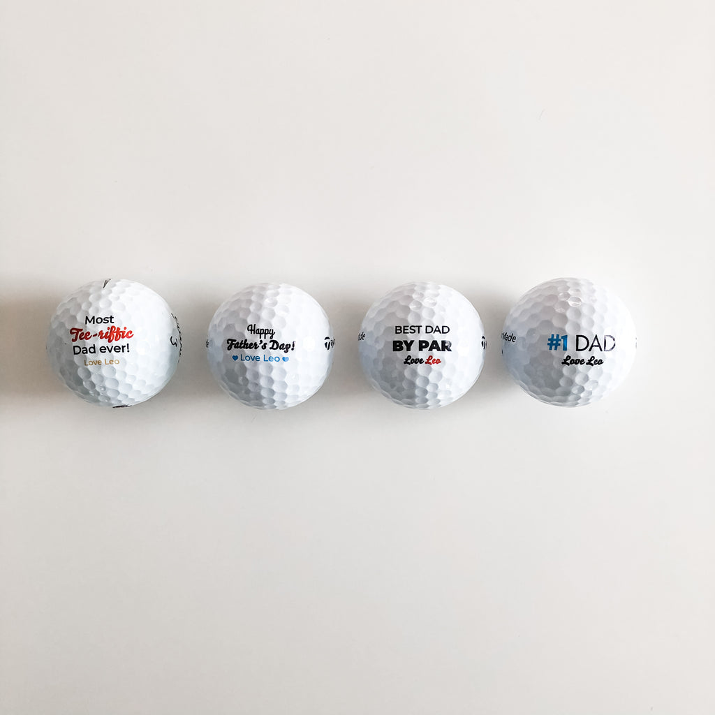 Set of 3 Premium Golf Balls - Happy Birthday