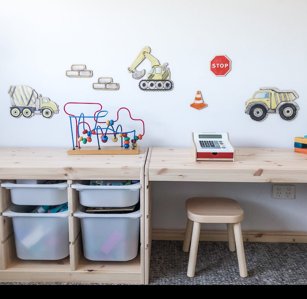 Timber Wall Decals - Construction & Trucks