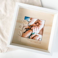 Etched Timber Photo Frame - In Memory