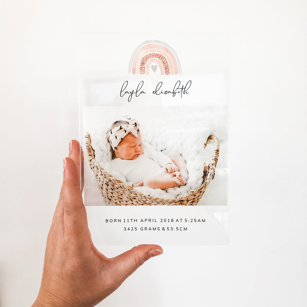 Birth Announcement Photo Plaques - multiple designs