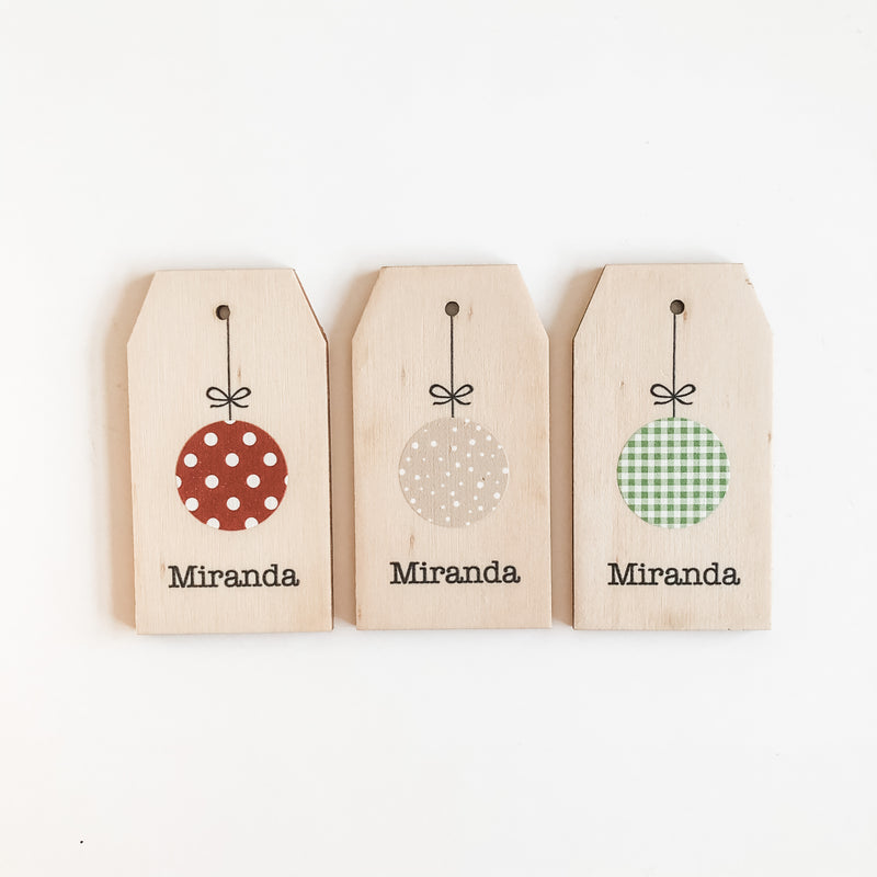 Christmas Gift Tags - Baubles