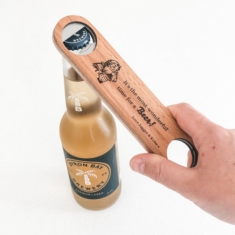 Christmas Wooden Bottle Opener (custom)