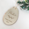 Etched Vine Easter Egg Tags