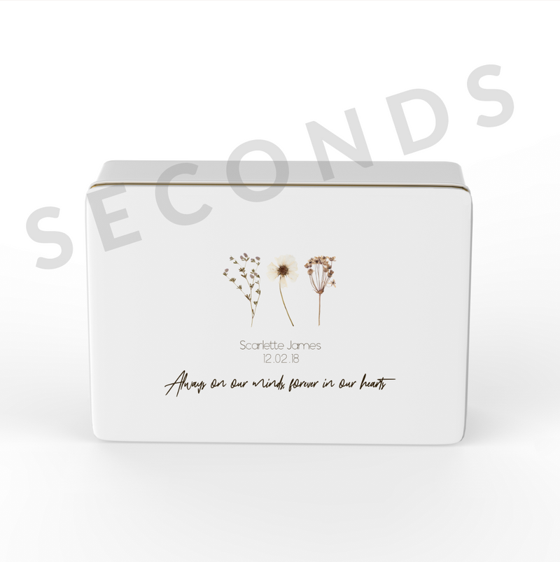 {Seconds} Keepsake Box - In Memory - Design 1