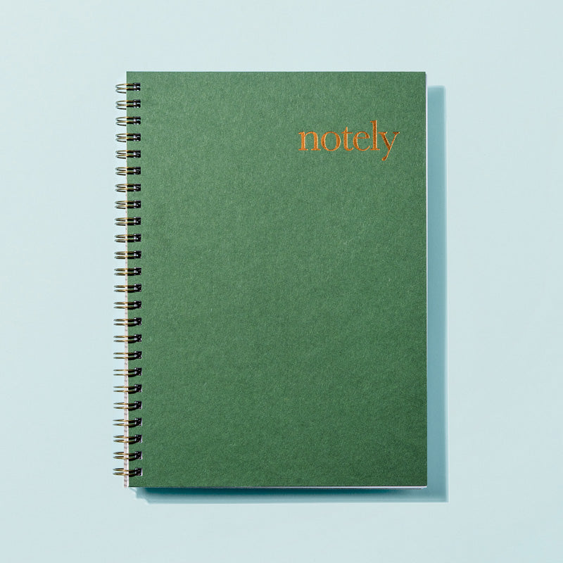 Notely Forest Green Spiral Notebook