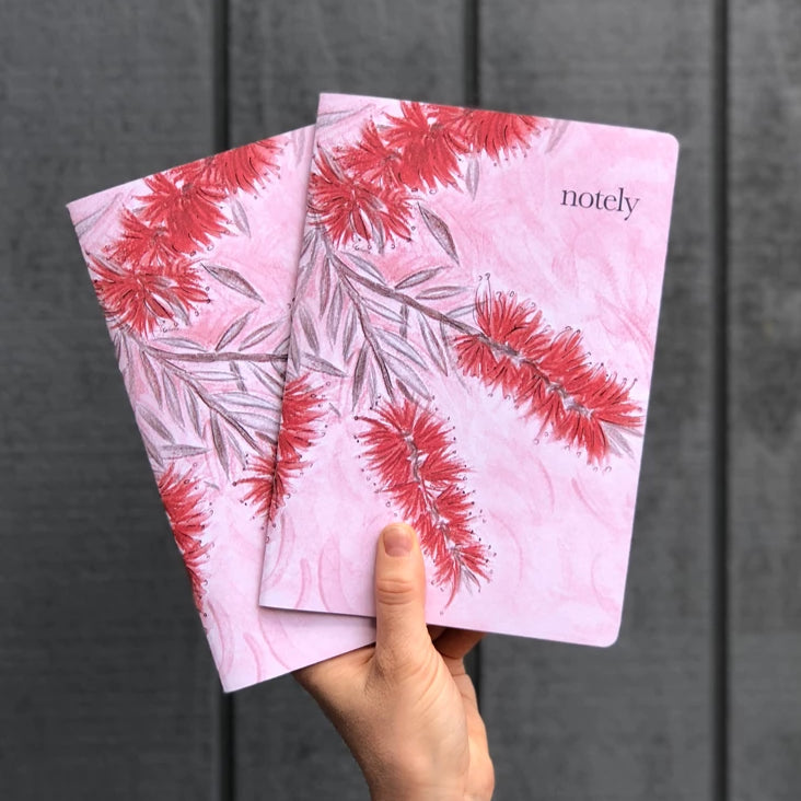 Notely Bottle Blush A5 Notebook (Set of 2)