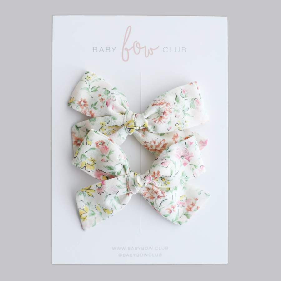 Summer Floral // Mini Bow // Pigtail Set