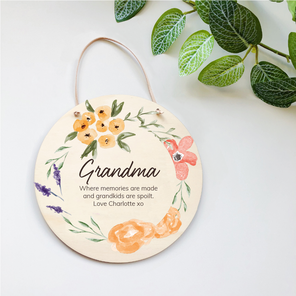 Mother's Day Plaques - Mustard Florals