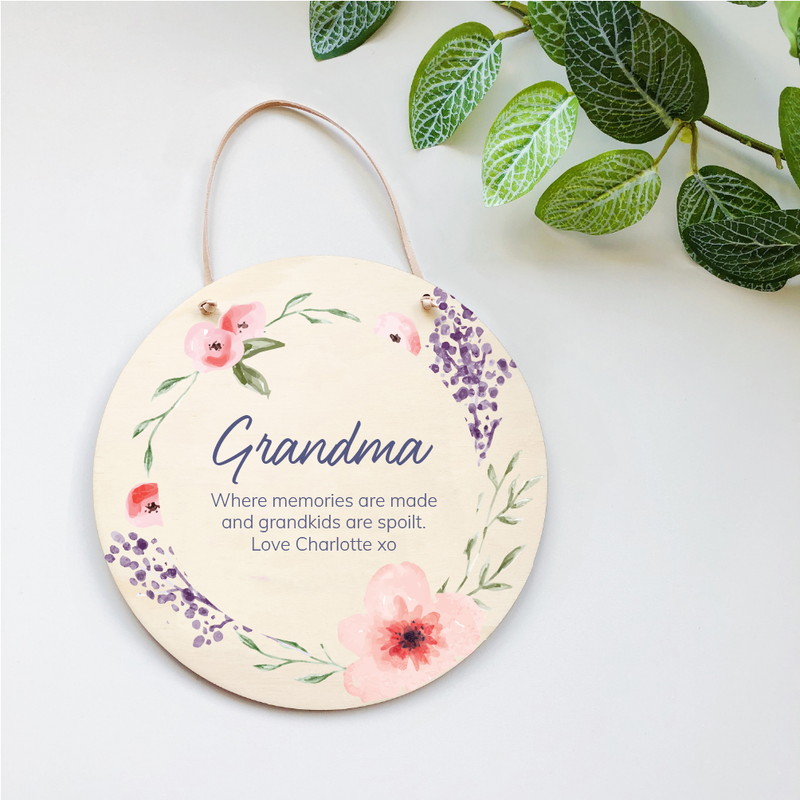 Mother's Day Plaques - Pink Florals
