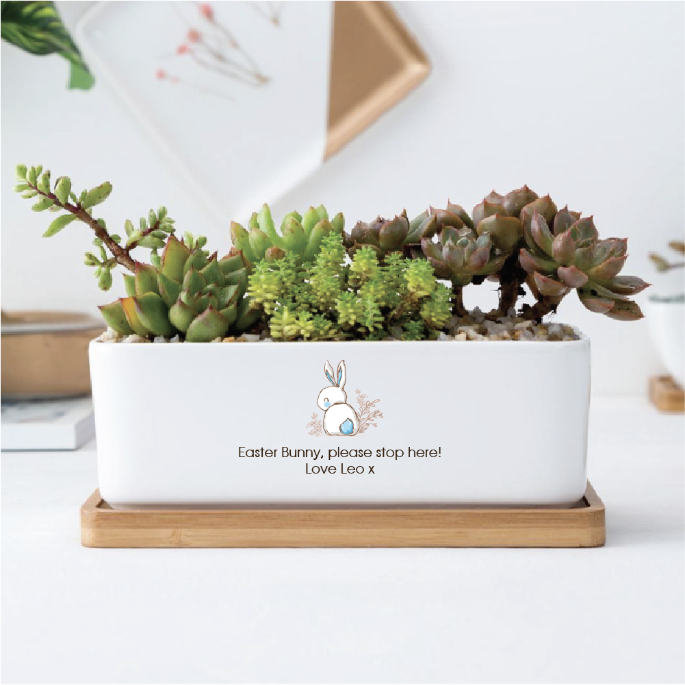 Ceramic Planter Rectangle - Easter