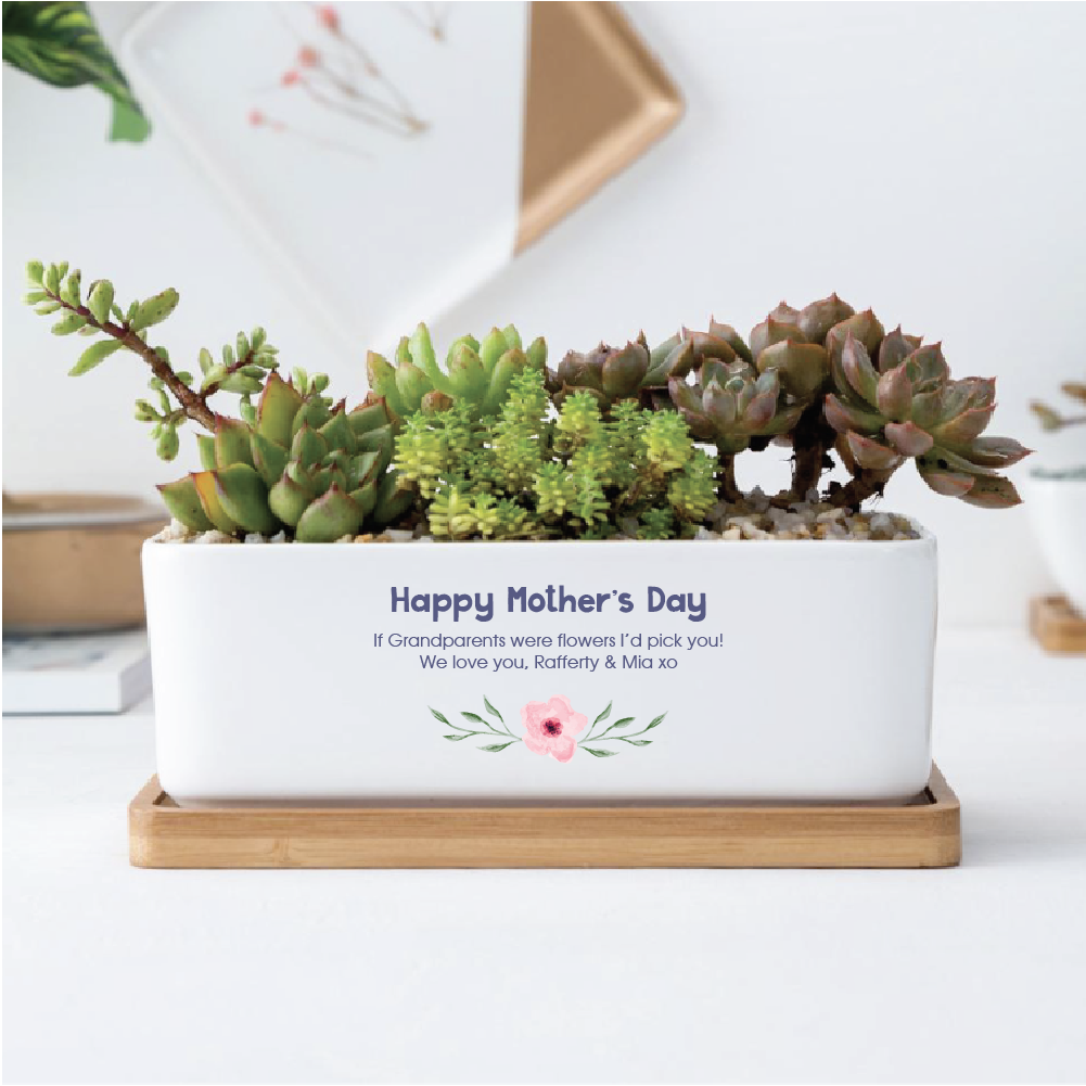 Mother's Day Ceramic Planter - Rectangle