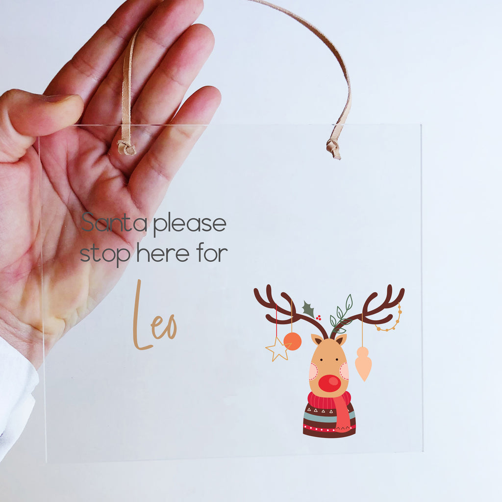 Printed Christmas Plaques - Acrylic Rectangle (custom)