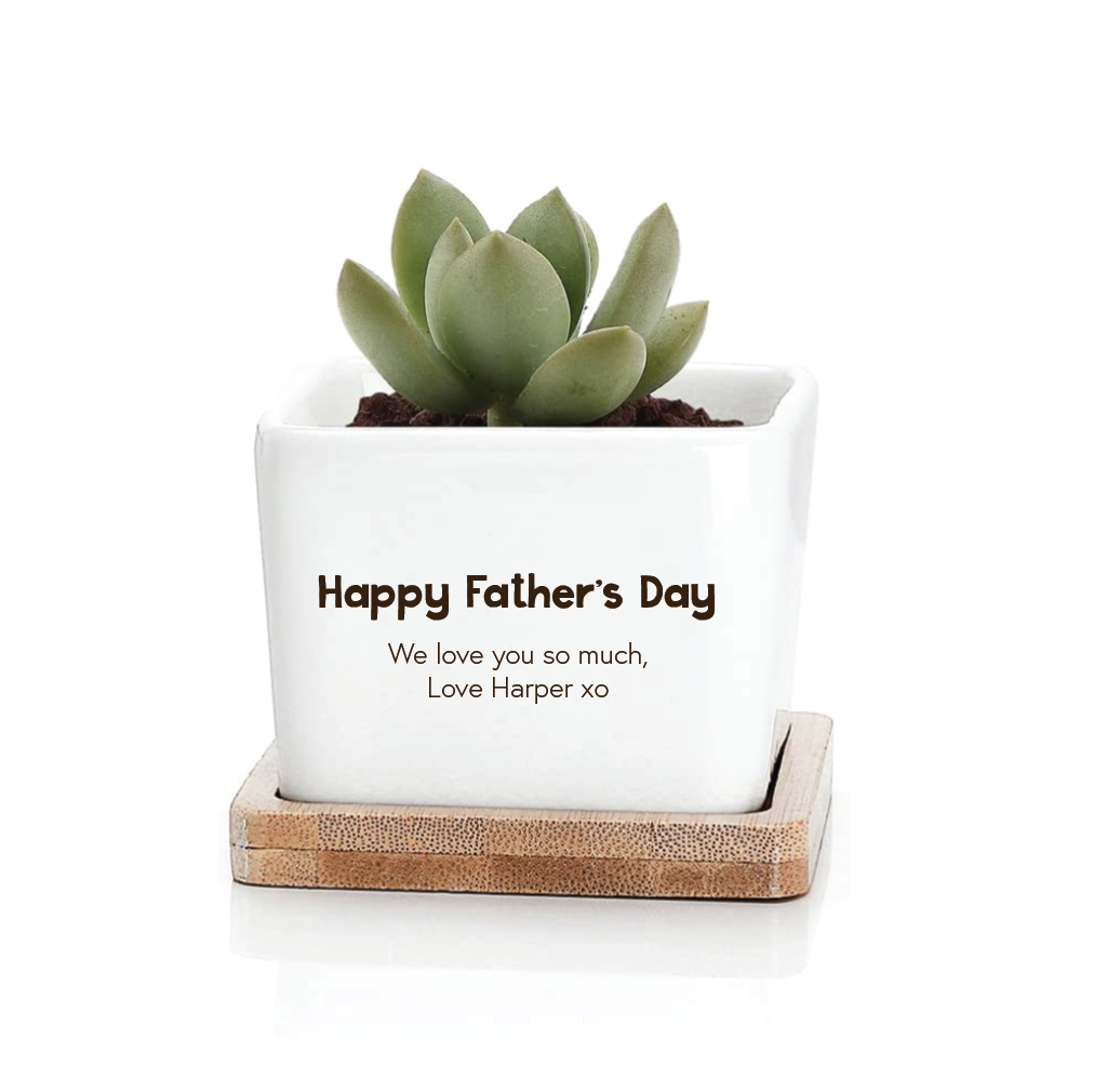 Father's Day Planter - Square