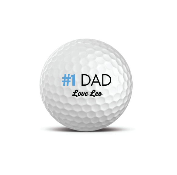 Set of 3 Premium Golf Balls - #1 Dad