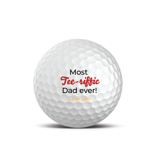 Set of 3 Premium Golf Balls - Most Tee-riffic