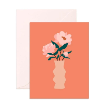 Muse Peonies Greeting Card