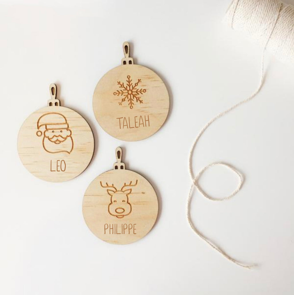 Etched Christmas Baubles (custom)