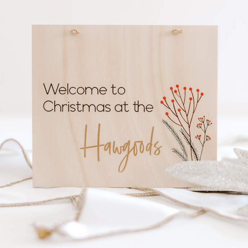 Printed Christmas Plaques - Timber Rectangle (custom)