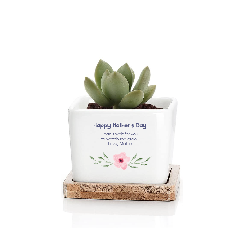 Mother's Day Ceramic Planter - Square