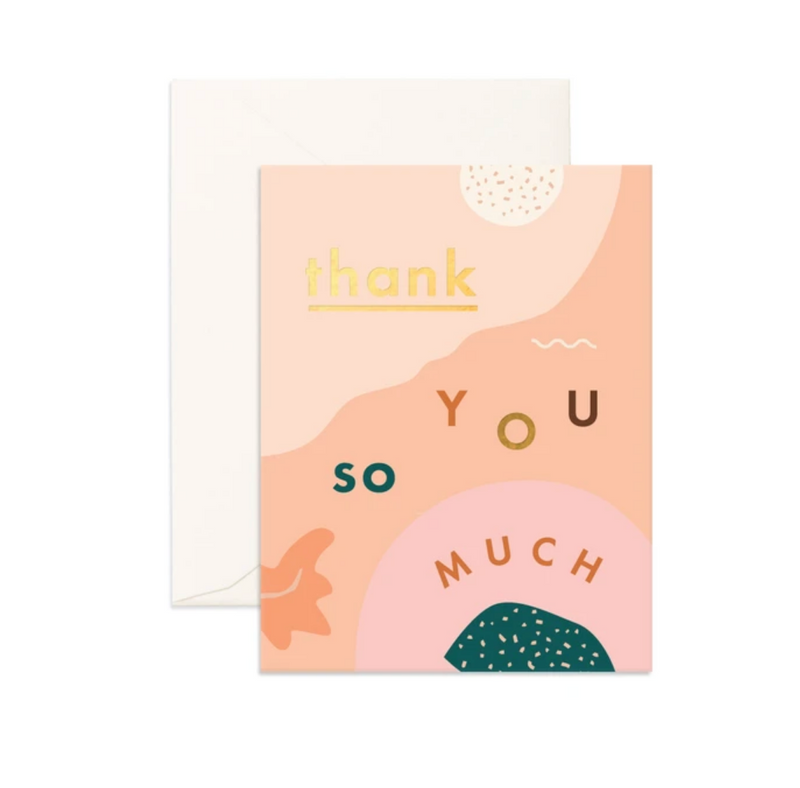 Thank You So Much Abstract Greeting Card