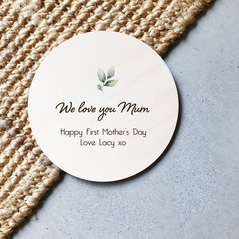 Mother's Day Plaques - Leaf (custom)