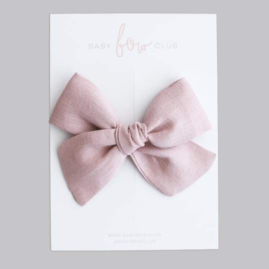 Dusty Pink Linen // Audrey Bow