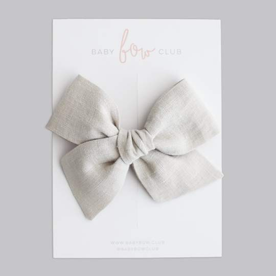 Light Grey Linen // Audrey Bow