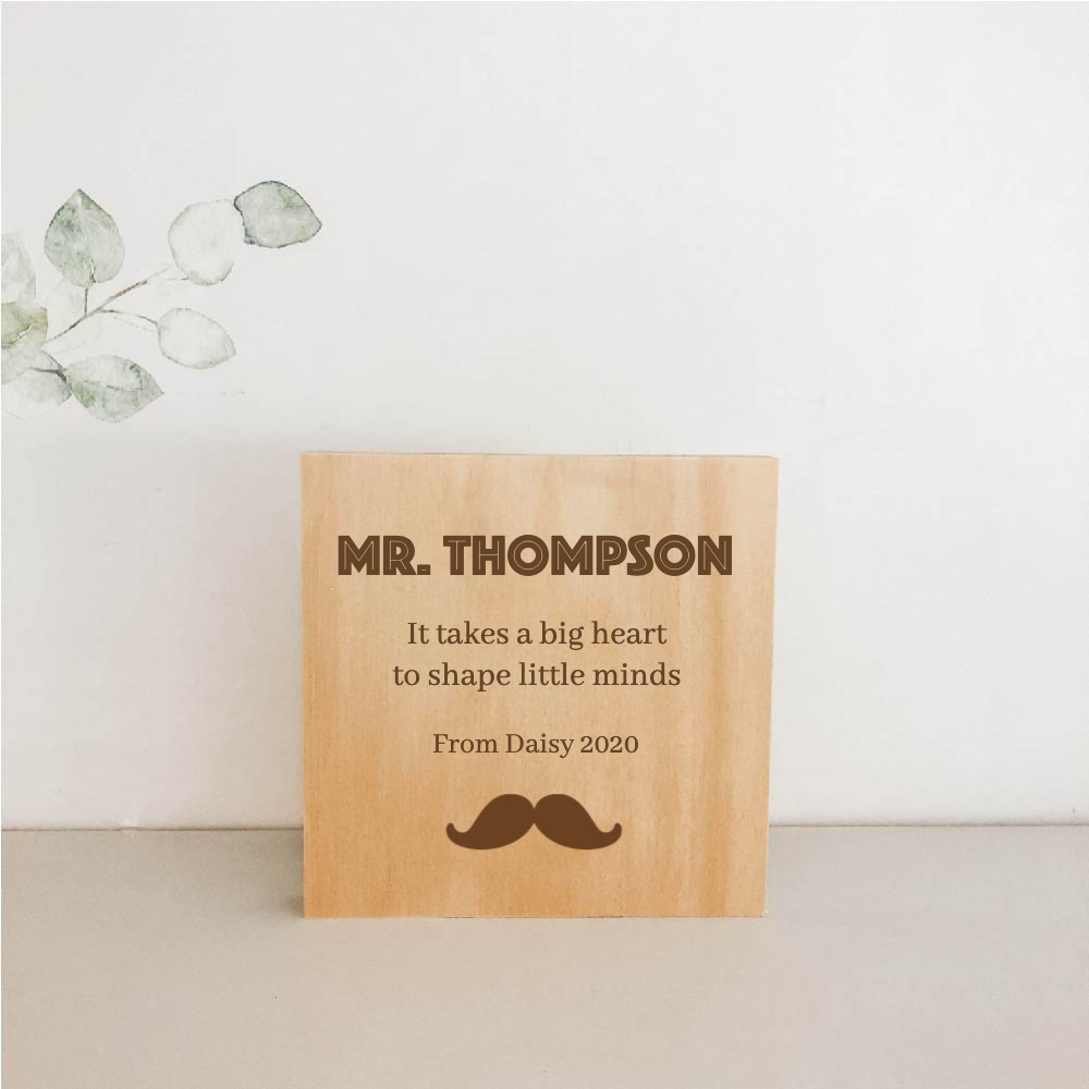 Standing Wooden Plaques for Teachers