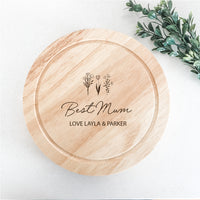 Mother's Day Cheese Boards - Garden Flowers