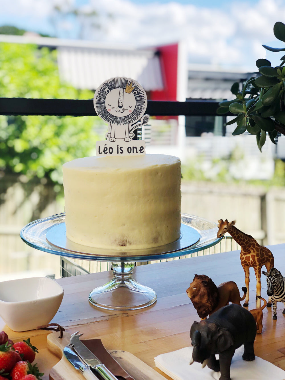 Lion Cake Topper (custom)