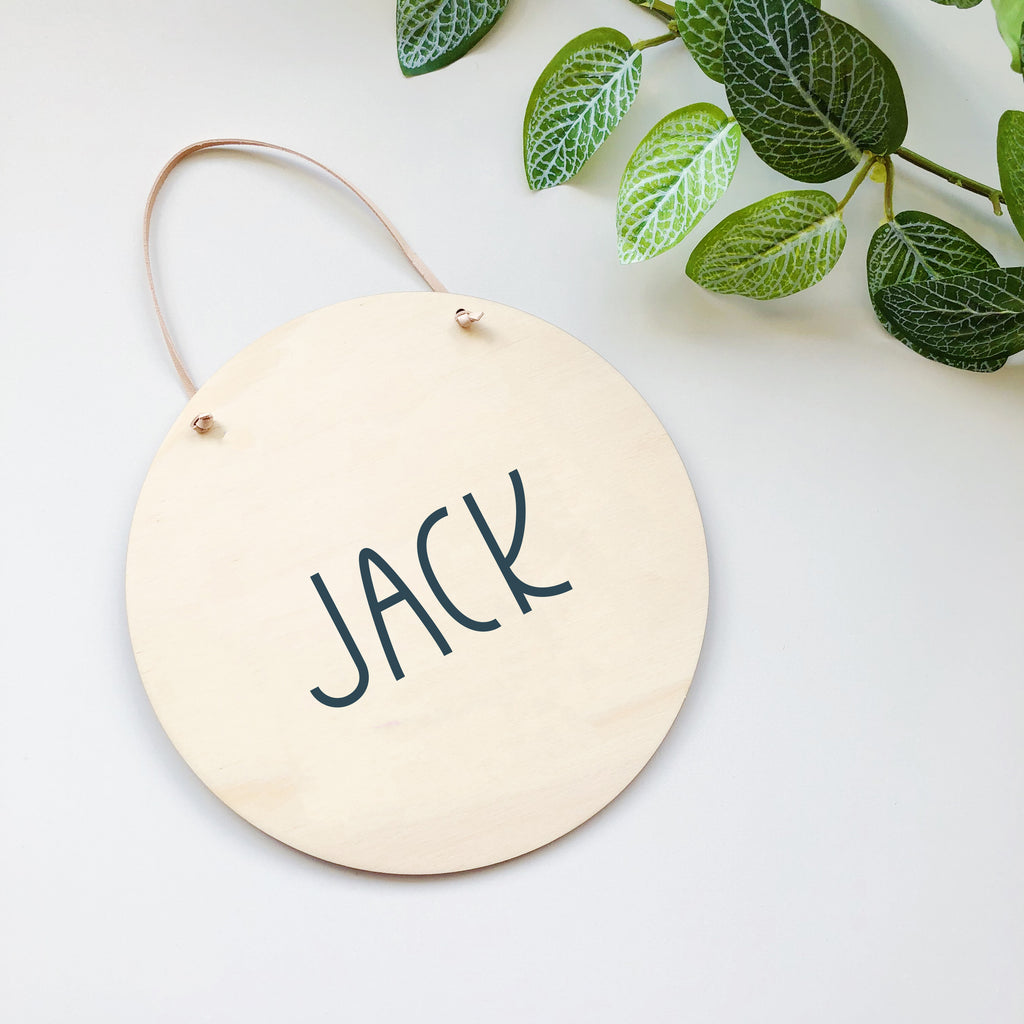 Minimalist Name Plaques - multiple designs