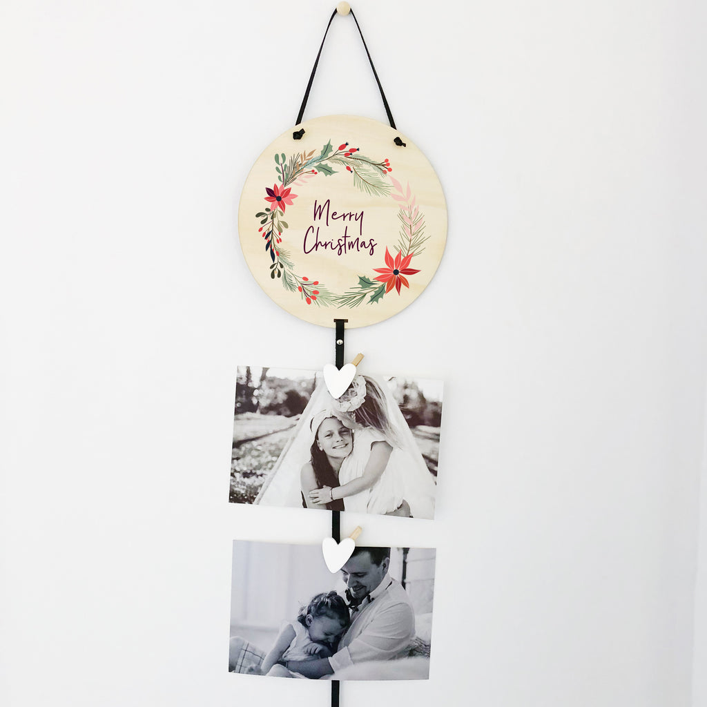 Christmas Memory Drops/ Greeting Card Holder (ready-made)