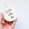Wooden Christmas Baubles - Mono Leaf