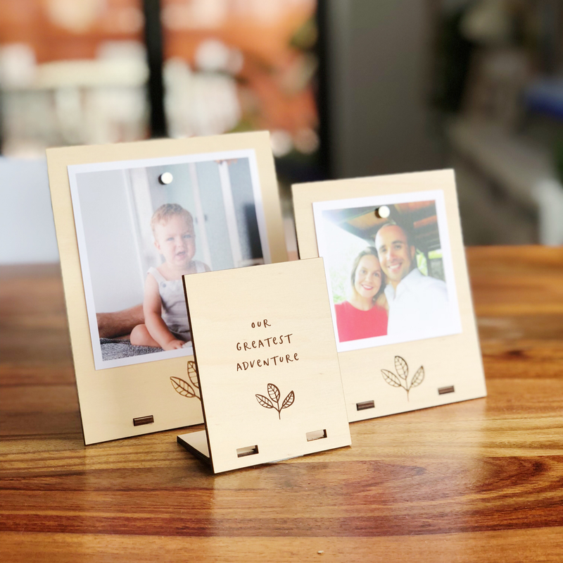 Set of 3 Standing Photo Frames (multiple designs)