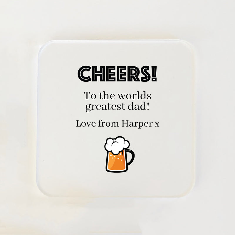 Square Coasters for Him (Multiple Beverages)