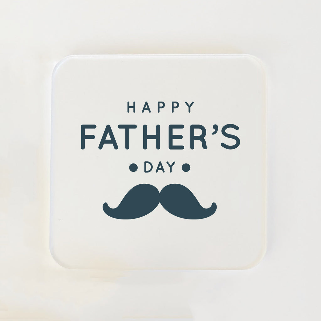 Square Coasters for Him - Moustache