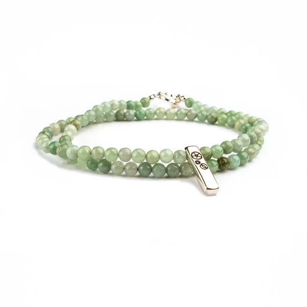 Jade Double-Wrap Baby Bar Bracelet - Timelapse Co.