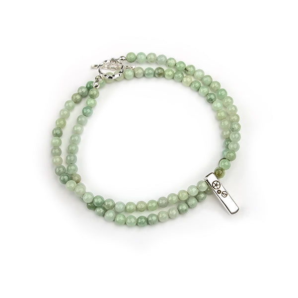 Jade Baby Bar Double-Wrap Bracelet - Timelapse Co.